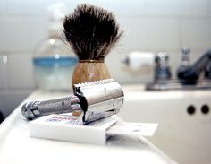 Improve your shaving routine by adding a hot shower, pre-shave oil, conditioner, alum and toner to your toolkit along with proper razor technique. Straight Razor Shaving, Shaving Razor, Wet Shaving, Best Safety Razor, Homemade Shaving Cream, Shaving Tips, Shaving Products, Hair Removal For Men, Pre Shave