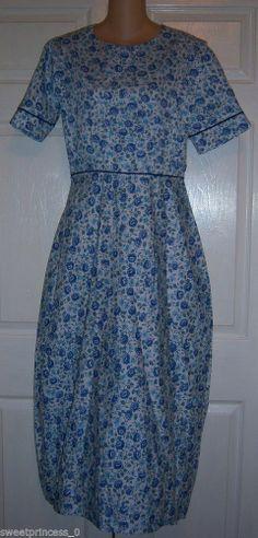 """Amish Mennonite Handmade Tall Modest Cape Dress 42""""Bust / 28"""" Waist Summer Dress #Handmade #Cape #Casual"""