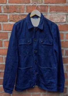 Swedish Nudie Jeans Ricco Denim Work Wear/ Chore Jacket Dark Hemp Organic Cotton