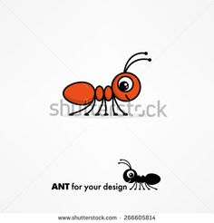 Cool Cute cartoon ant