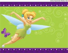 Tinkerbell free printable candy bar label.