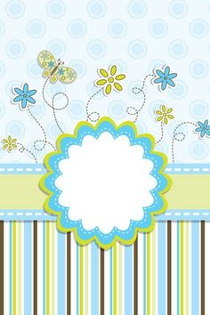 ♥ Scrapylicious Cute Floral Blue Wallpaper.
