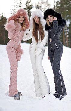 Onesies Silver & Gold Waisted Goose Down Ski Suit Nordic brand design onesies zipper ski Winter Outfits Winter Outfits Women, Winter Fashion Outfits, Mode Au Ski, Mode Adidas, Snow Fashion, Fashion Fashion, Mode Outfits, Ski Outfits, Winter Wear