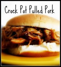 Crockpot Pulled Pork - Wonderful recipe!  I just used a pork shoulder roast and it fell apart when I pulled it.  I added a bottle of pre-made sauce and some cole slaw! Such a great dinner!