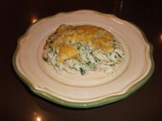Cheesy Chicken & Spinach Casserole - Low Carb