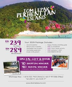 Pulau Perhentian - Flora Bay Resort Packages Antara, Honeymoon Destinations, Snorkeling, Canoe, Special Gifts, Flora, Places To Visit, Boat, Activities