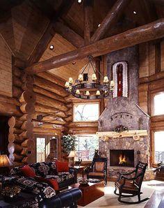 49 best alaska log homes cabins images log homes log houses rh pinterest com Old Log Cabin Interiors log cabin kit homes alaska