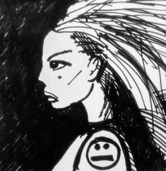 "#draweveryday #everyday "" #punk #woman oldish #school "" ... If I had the chance I'd ask the World to #dance... #drawing #sketch #sketching #smiley not #face #citizen from my #sciencefiction #3zuniverse www.3zuni.com #80s #art #comic #mohawk #beauty listening to #dancingwithmyself #billyidol #pen on #paper"