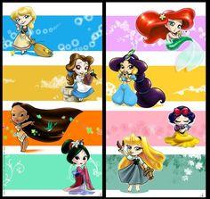 Chibi princesses...cuuuute!