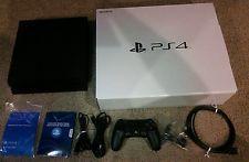 Sony PlayStation 4 - 500 GB Black Console! Works Fine! Fast Shipping!