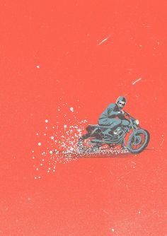 Stayano on INPRNT. Awesome motorcycle themed... - SUPERSONIC ART