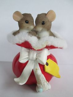 "Charming Tails Enesco Dean Griff ""A Sack Full of Joy"" Christmas 2008 Signed GCIB"