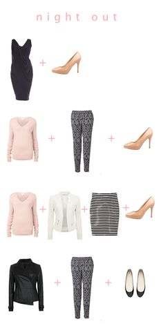 Here are the night-out looks we are using over on Chasing Cait today to create a capsule wardrobe.  Click the image to go to the blog for more details and to see more outfits