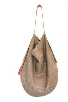 Handmade Belgian Linen Slouch Bag Sun Kissed Chaparral di groslie