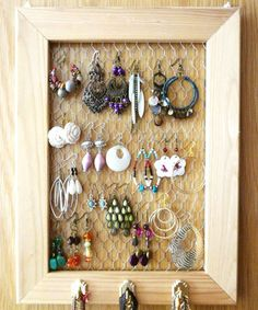 A collection of ideas for do-it-yourself jewelry displays