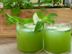mint, cucumber, and vodka cocktail recipe