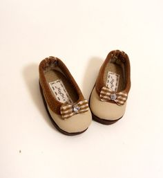 """14"""" Doll Shoes Beige Slip On Flats fit Hearts 4 Hearts Dolls and Les Cheries Dolls - By MegOri's Dolls Boutique on Etsy, $15.00"""