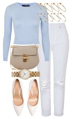 """""""Look #488"""" by foreverdreamt ❤ liked on Polyvore featuring Topshop, Chloé, Marc by Marc Jacobs, ASOS, Gianvito Rossi, women's clothing, women, female, woman and misses"""