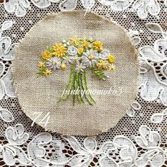 . . ミニブーケ。。。 . #embroidery #flola #flower #flowerembroidery #needleart… Decorative Plates, Embroidery, Flowers, Home Decor, Instagram, Needlepoint, Decoration Home, Room Decor, Florals