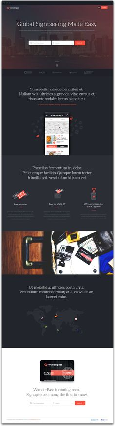 Wunderpass Landing Pages on Web Design Served