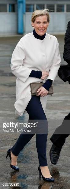 Sophie Countess of Wessex visits the Orbis Flying Eye Hospital at Stansted Airport on March 20 2017 in London England Eye charity Orbis's new Flying...