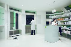 """""""Illusion of Light"""" - Pharmacy in Palencia, Spain by Buj+Colón Arquitectos of Madrid."""