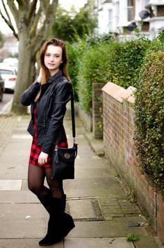 be classy...: Plaid dress