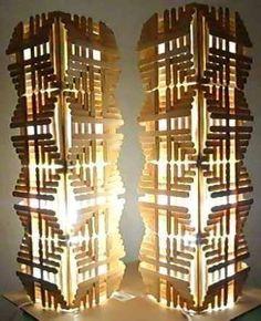 Luminaria de broches de madera                                                                                                                                                                                 Más