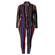 787115068c8d9 Plus Size 2 Piece Shirt Jacket and Leggings Set