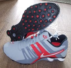 NEW NIKE SHOX CURRENT Gray Red White MENS Limited Release $140 #NikeShox #Athletic