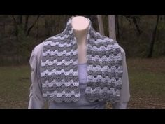 Victorian Step Bargello Crochet Tutorial - From Scarf t- King Size Bed Afghan - Crochet - YouTube