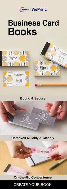 Beige peach pink color trend blank template business card avery weprint business card books are premium business cards neatly bound in a secure covered book with a clear cover reheart Image collections