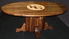 Black walnut oval Law office conference room table Exquisite custom design by Neal Burns   509-466-4684