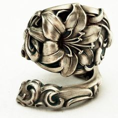 Spoon Ring Vintage Lovely Lily Sterling Silver Spoon by Spoonier
