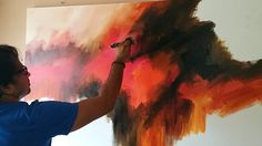 Abstract painting / Demonstration of abstract painting in Acrylics / Eas...