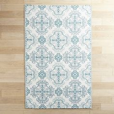 Pier 1 Imports Plastic Tile Medallion 4x6 Rug ($30) ❤ liked on Polyvore featuring home, rugs, green, green rug, green area rugs, medallion rug, pier 1 imports and medallion area rug