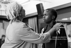 Ayanda Nhlangothi as Tsotsi's Mother and Sibuyiselo (Sbuja) Dywili as the young David Hip Hop Artists, January 2018, Award Winner, Musicals, Novels, David, Hair Styles, Beauty, Hair Plait Styles