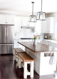 47+ Gorgeous Fresh Country Kitchen Decor Ideas #countrykitchen #decor #decorideas
