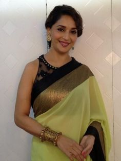 madhuri_dixit_in_pista_green_sequin_saree