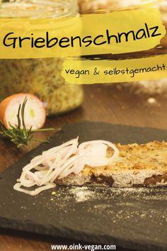 Ein leckerer veganer Brotaufstrich: Griebenschmalz, eine tolle Alternative #vegan #brotaufstrich #abendessen #rezeptevegan #aufstrich #lecker Food And Drinks, Vegans, Home Remedies