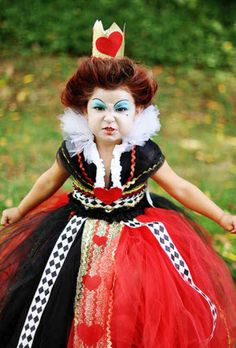 The future queen of hearts. | 24 Badass Halloween Costumes To Empower Little Girls
