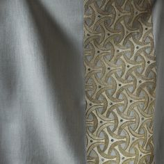 Amadeo is a smart geometric design based on early Celtic patterns. It is beautifully paired here with our Donegal linen. We can embroider onto almost any background fabric including: silk, velvet, organza and leather. Celtic Patterns, Donegal, Silk Thread, Couture, Floral Tie, Linens, Velvet, Detail, Interior
