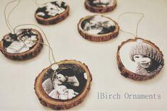 DIY    Birch Ornaments