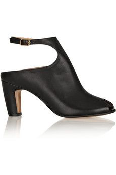 Maison Martin Margiela Peep-toe leather ankle boots | NET-A-PORTER