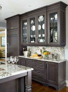 Cabinet/counter color, like mix of glass and solid