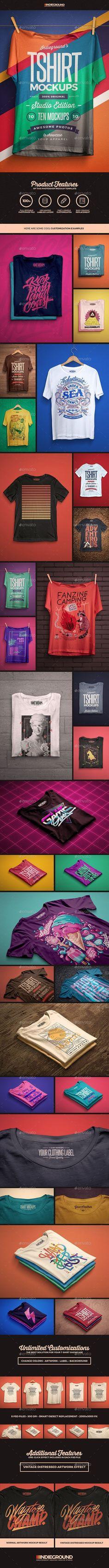 Studio T-shirt Mockups #apparelmockup