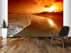 Ocean sunrise | Wall Mural - Wallsauce.com