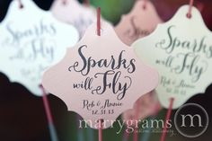Wedding favors personalized sparklers
