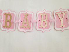 Princess Baby Shower bandera bandera de rosa y por AllDiaperCakes