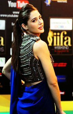 Nargis Fakhri in saree and statement blouse